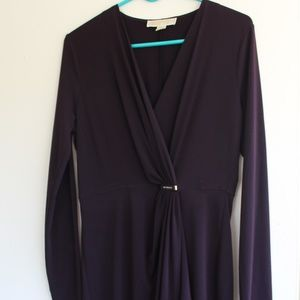 Michael Kors Dresses - Deep purple Michael Kors faux wrap dress
